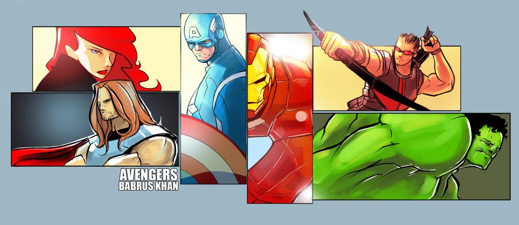 avengers fan art babman